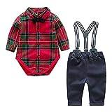 Bambino 0-24 Completini e Coordinati Prima Infanzia Tutine Body e Pantaloni Abbigliamento Abiti e Giacche Eleganti Rosso 3-6 Mesi