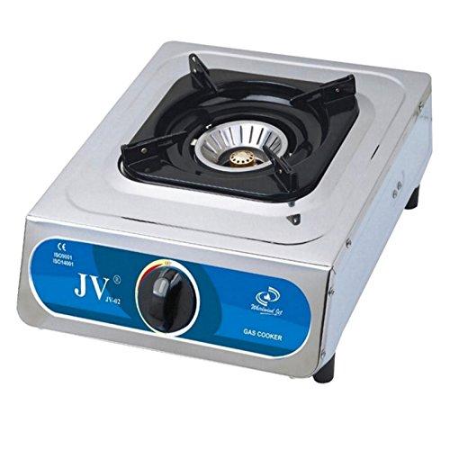 Preisvergleich Produktbild Freizeit Wittke Set CAGO Turbo Gaskocher JV-02s 1-flammig 30-50 mbar mit Abdeckung