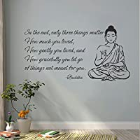 Buddha Wall Decals citazione–Solo tre cose Matter