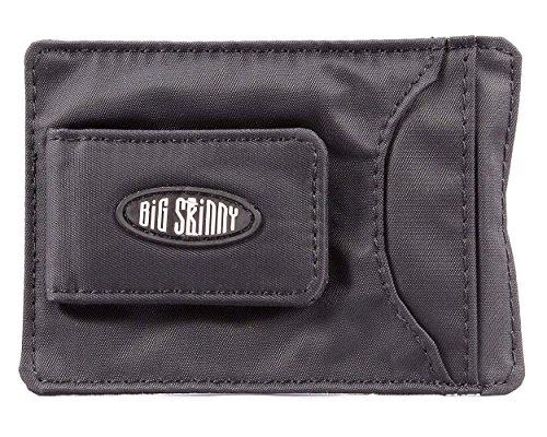 Big Skinny Men's Magnetic Money Clip Slim Wallet, Holds Up to 12 Cards, Black Big Skinny