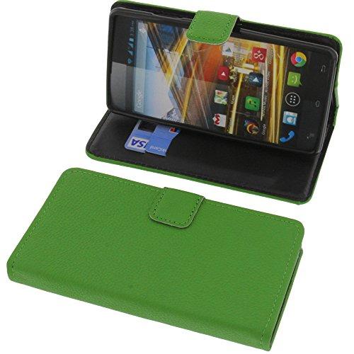 foto-kontor Tasche für Archos 50d Neon Book Style grün Schutz Hülle Buch