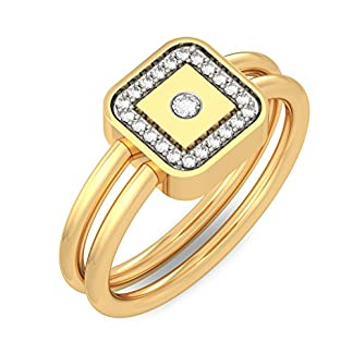 BlueStone 18k (750) Yellow Gold and Diamond Divine Bond Ring