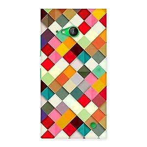 Premium ColorFull Ribbons Print Back Case Cover for Lumia 730