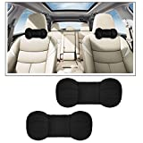 #2: Vheelocityin High Quality Dumbell Round Black Car Neck Cusion Pillow