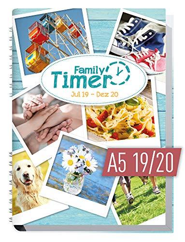 Family-Timer 2019/2020 - Der Familien-Planer! 18 Monate Juli 2019 - Dezember 2020, Familienkalender für bis zu 4 Personen + viele hilfreiche Features (Und Kalender Planer)