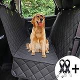 Bonve Pet Bonve Pet wasserdichte Hunde Autoschondecke mit Seitenschutz & Reißverschlüsse, Hundedecke für Auto Rückbank, Kratzfest, rutschfeste Hundedecke mit Sicherheitsgurt und Handtashce für Auto/Van/SUV