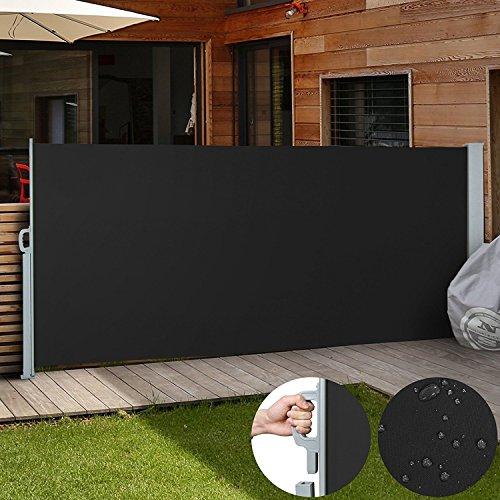 Jago Seitenmarkise Sonnenschutz Sichtschutz Windschutz - diverse Farben und Größen (schwarz/160x300cm/SMKS01-160SW)