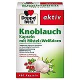 Doppelherz Knoblauch Kapseln mit Mistel + Weißdorn/Zur Vorbeugung allgemeiner Arterienverkalkung/1 x 480 Kapseln