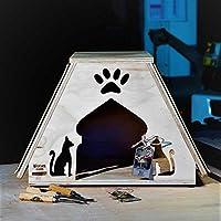 Novedad Blitzen, caseta para gatos indoor con Alfombras tiragraffi lavables Abu Dhabi Talla XL,