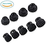 9PCS RC Pinion Gear Combo Set 11T 12T 13T 14T 15T 16T 17T 18T 19T M1 5mm for Brushless Motor of 1:8 1:10 1/8 1/10 RC Car Off-road by Crazepony-UK