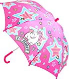 Unbekannt Regenschirm Kinderschirm Einhorn Pink Spannweite 68 cm Stockschirm