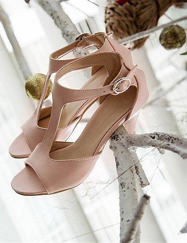 UWSZZ IL Sandali eleganti comfort Scarpe Donna-Sandali-Matrimonio / Ufficio e lavoro / Formale / Casual / Serata e festa-Tacchi / Spuntate-A stiletto-Finta pelle-Nero / Black