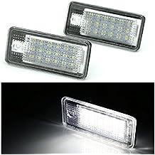 Iluminación LED para matrícula de Audi A3 8P, A4 B6 y B7, A6 4 F y Q7 (no tiene que pasar la ITV)