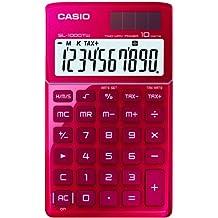 CASIO SL-1000TW-RD-S-EH - Calculadora básica, 8 x 70 x 118.5 mm, rojo
