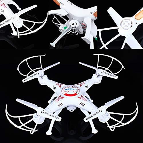 SOULONG 2.4G FPV WiFi Drohne mit 360 Grad Flip Kamera High Definition Flugzeug mit Fernbedienung Drohne mit WiFi Kamera Unterstützung iOS und Android System geeignet für Anfänger 32 x 32 x 11 cm weiß - Flugzeug-head-unterstützung