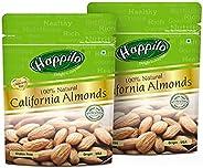 Happilo100% Natural Premium Californian Almonds, 200g (Pack of 2)
