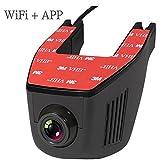 kasit versteckte Caméra HD fahrende Enregistreur avec Wi-Fi voiture Dash Cam avec application Mobile ferndienung