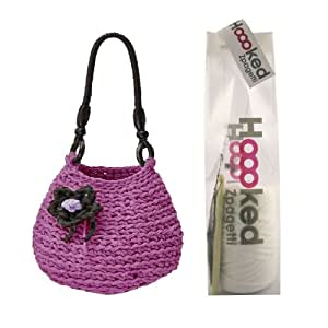Rimini Zpagetti Tasche Kit–Lila–Crochet Kit