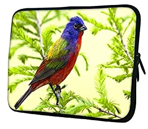 """Snoogg Colorful Bird 13"""" 13.5"""" 13.6"""" inch Laptop Notebook Slipcase Sleeve Soft Case Carrying Case for MacBook Pro Acer Asus Dell Hp Sony Toshiba"""