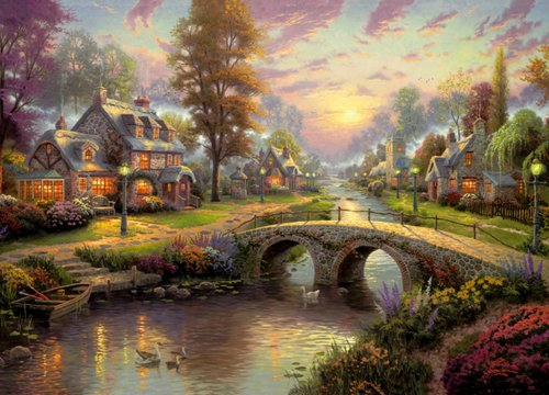 Imagen principal de Gibsons Games - Sunset on Lamplight Lane, puzzle de 1000 piezas