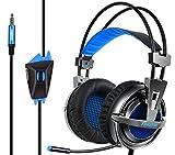 Casque Jeux Vidéo KINGTOP Gaming Headset avec Microphone Isolation des Bruits pour PS4 Nintendo Switch Xbox One Tablet PC iPad iPhone Smartphone