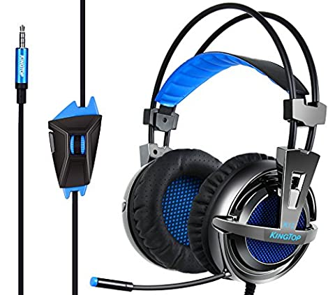 Casque Jeux Vidéo KINGTOP Gaming Headset avec Microphone Isolation des Bruits pour PS4 Nintendo Switch Xbox One Tablet PC iPad iPhone Smartphone