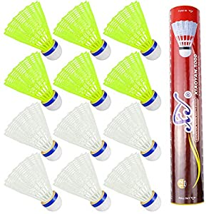 Hysagtek 12 Stücke Nylon Badminton Federbälle Indoor Outdoor Sport Hight...