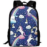 best& Vintage Unicorn Rainbows College Laptop Backpack Student School Bookbag Rucksack Travel Daypack