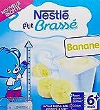 Nestlé Bébé P'tit Brassé Banane - Laitage dès 6 mois - 4 x 100g