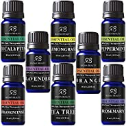 Aromatherapy Top 8 Essential Oil Set