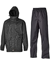 "Dickies WP7005 BK S Size Small ""Somerton"" Waterproof Suit - Black"