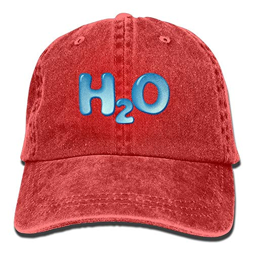 magic ship Unisex Washed Twill Cotton Baseball Cap H2O(Water) Print Classic Adjustable Dad Hat for Running Flex-fit Cotton Twill Cap