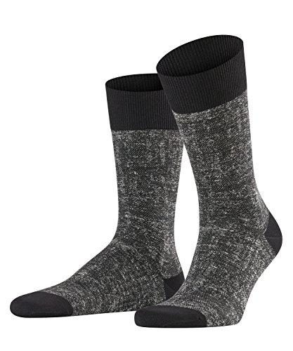 FALKE Herren Hand-Loom Socken, Black, 43-46