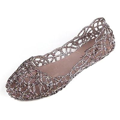 Hee Grand Damen Ballerinas Espadrille Schuhe 38 Kaffee