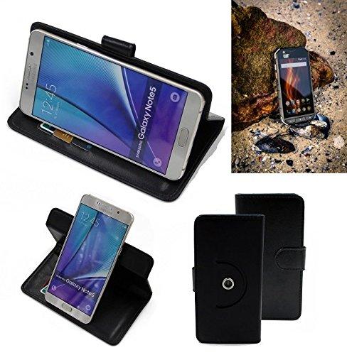 K-S-Trade® Case Schutz Hülle für Caterpillar Cat S31 Handyhülle Flipcase Smartphone Cover Handy Schutz Tasche Bookstyle Walletcase schwarz (1x)