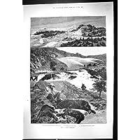 Una Stampa Antica dell'Oro 1888 delle Isole di Faralone del Punto del Sigillo di California America Minin… - America Del Sigillo