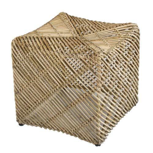casamia Rattan-Sitzhocker Quadratischer Pouf Hocker Tiger aus Mangrove