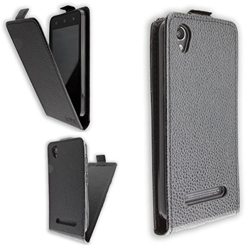 caseroxx Hülle/Tasche Flip Cover passend für Medion Life E4504 MD 99537, Schutzhülle (Handytasche klappbar in schwarz)