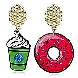 Kaxima Ohrringe Damen, Sommer-Eis-Donut-Grafik Stil Ohrringe, Geschenke