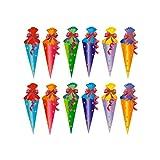 Oblique Unique® Zuckertüte Konfetti 18 STK. Zuckertüten Tisch Dekoration Streu Deko Schuleinführung Einschulung Schulanfang Schule - 2