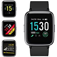 Smart Watch Fitness Tracker, 5ATM Waterproof Men Women Bluetooth Sports Wristband with Color Full Touch Screen Heart Rate Sleep Monitor SMS Call Notification Pedometer for iOS Android iPhone