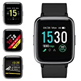 Smartwatch, Fitness Armband Tracker Voller Touchscreen 5ATM Wasserdicht Smart Watch Intelligente Aktivitäts Uhr Sportuhr, Damen Herren Pulsmesser Schlafmonitor SMS Beachten Armbanduhr für Android iOS