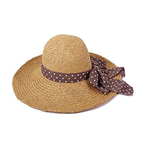 Chapeau Coréen/Grosse Garniture Bloquent/Pliage A/Summer Beach Hat F