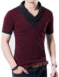 Seven Rocks Men's Cotton V-Neck T-Shirt