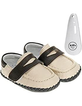 Little Blue Lamb - Zapatos primeros pasos de Piel para niña Amarillo crema
