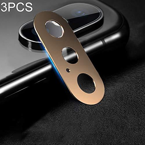 webcam cover, cobertura completa del teléfono móvil del metal de la cámara trasera cubierta protectora del lente, for iphone xs xs/max/x (3 pcs, 10d) (color : rose gold)