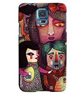 Omnam Painted Boy Girl Effect Emotion Printed Designer Back Cover Case For Samsung Galaxy S5