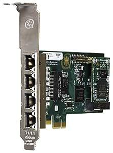Digium 1TE435F Interne Ethernet carte et adaptateur réseau - cartes et adaptateurs réseau (Avec fil, PCI-E, Ethernet)
