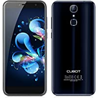 CUBOT X18 4G Smartphone Débloqué Portable( 5.7 pouces 18:9 2.5D 1440 x 720 IPS HD Écran - 3 GO RAM+32 GO ROM - Dual Arrière Caméra Sony 16MP+13MP Samsung Frontale - Android 7.0 MTK6737T 1.5GHz Ouad core - Fingerprint Empreinte Digitale Scanner 3200mAh  - Dual SIM wifi) - Bleu