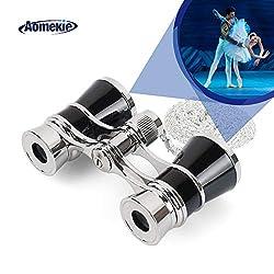 Aomekie Opernglas Theaterglas für Theater Konzert Pferderennen und Opera 3X Vergrößerung Fernglas Binoculars Feldstecher mit Kette